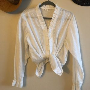 Tops - Vintage Embroidered Eyelet Romantic Blouse